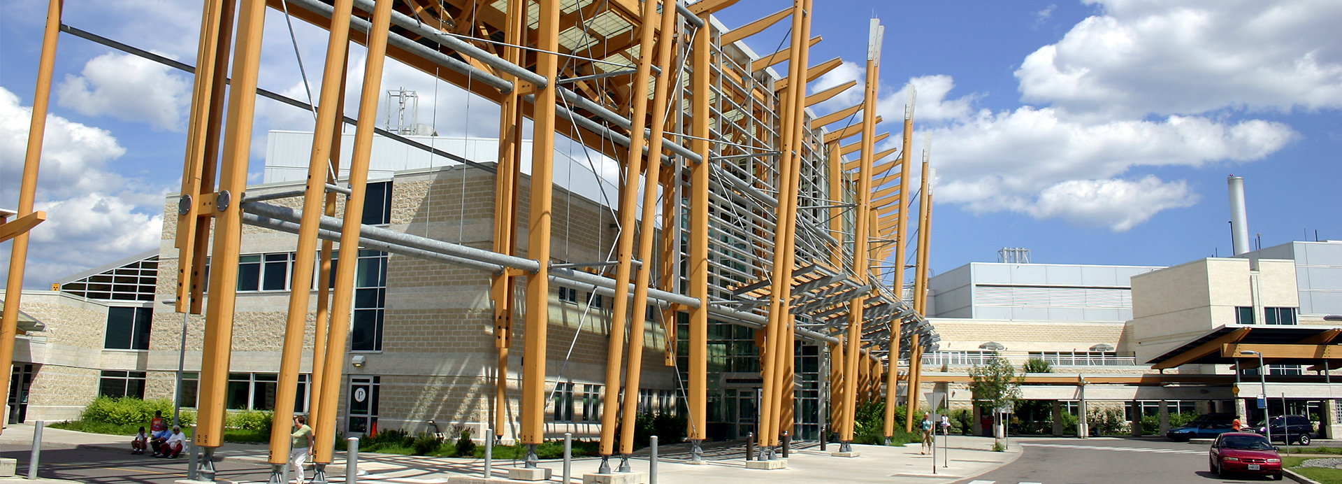 Front entrance of the Thunder Bay Regional Health Sciences Centre