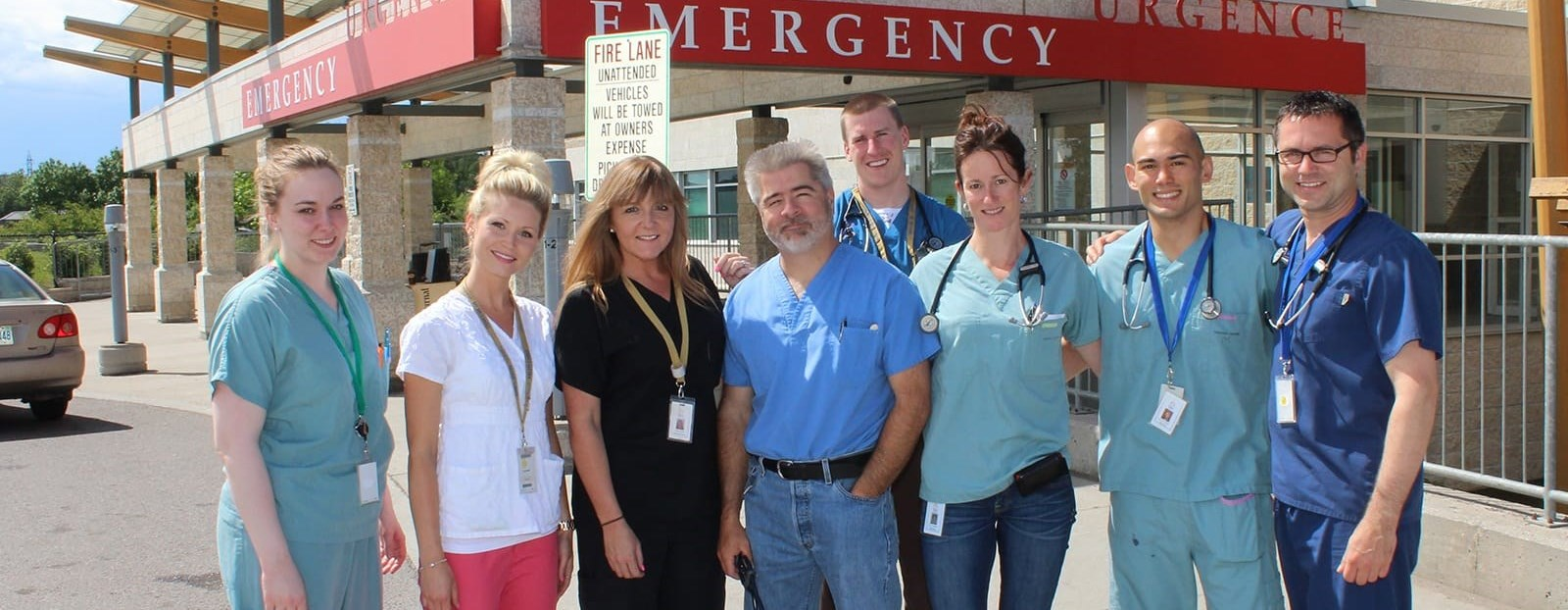 doctors and nurses outside of emergency room