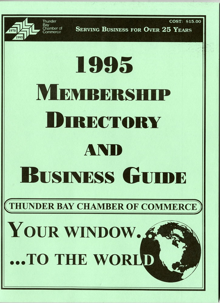 Thunder Bay Chamber of Commerce - 1995 directory - 001