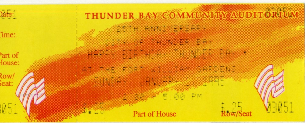 City Recreation Division - Arts and Heritage - Ticket - 005