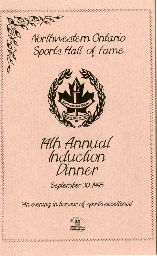 Northwestern Ontario Sports Hall of Fame - Pamphlet - Front
