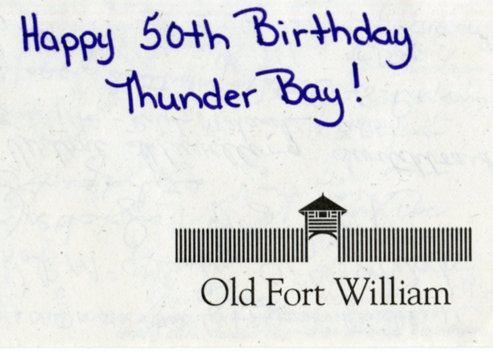 Old Fort William - 2020 Thunder Bay Signed card - front