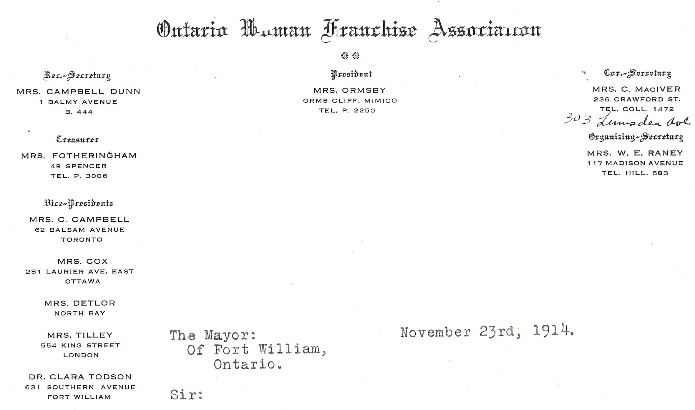 Ontario Woman Franchise Association