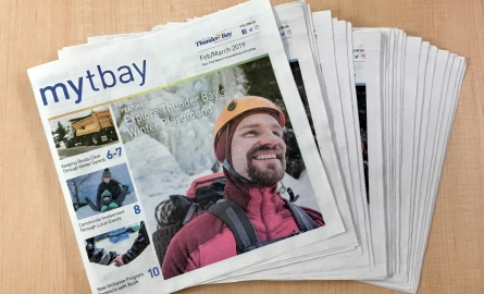 mytbay publications spread on a desk