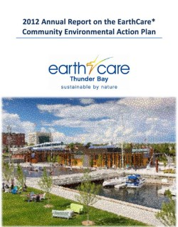 front cover picture of earthcare 2012 annual report