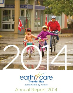 front cover picture of earthcare 2014 annual report