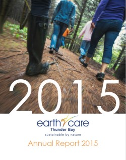 front cover picture of earthcare 2016 annual repor5