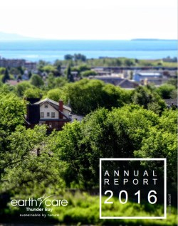 front cover picture of earthcare 2016 annual report