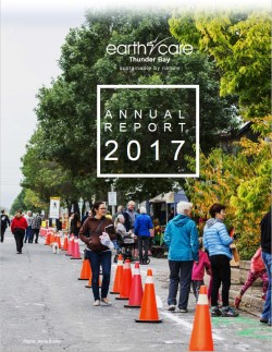 front cover picture of earthcare 2017 annual report
