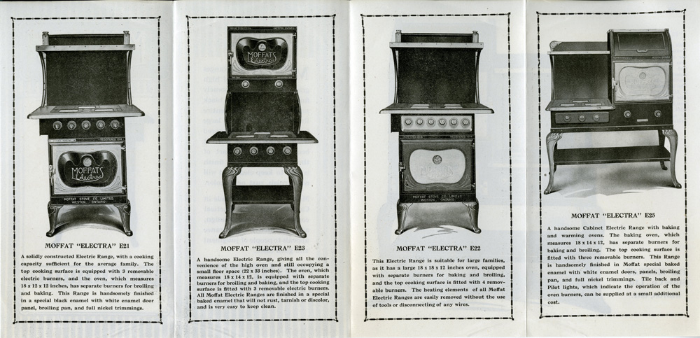 Advertisement for Moffat Stoves