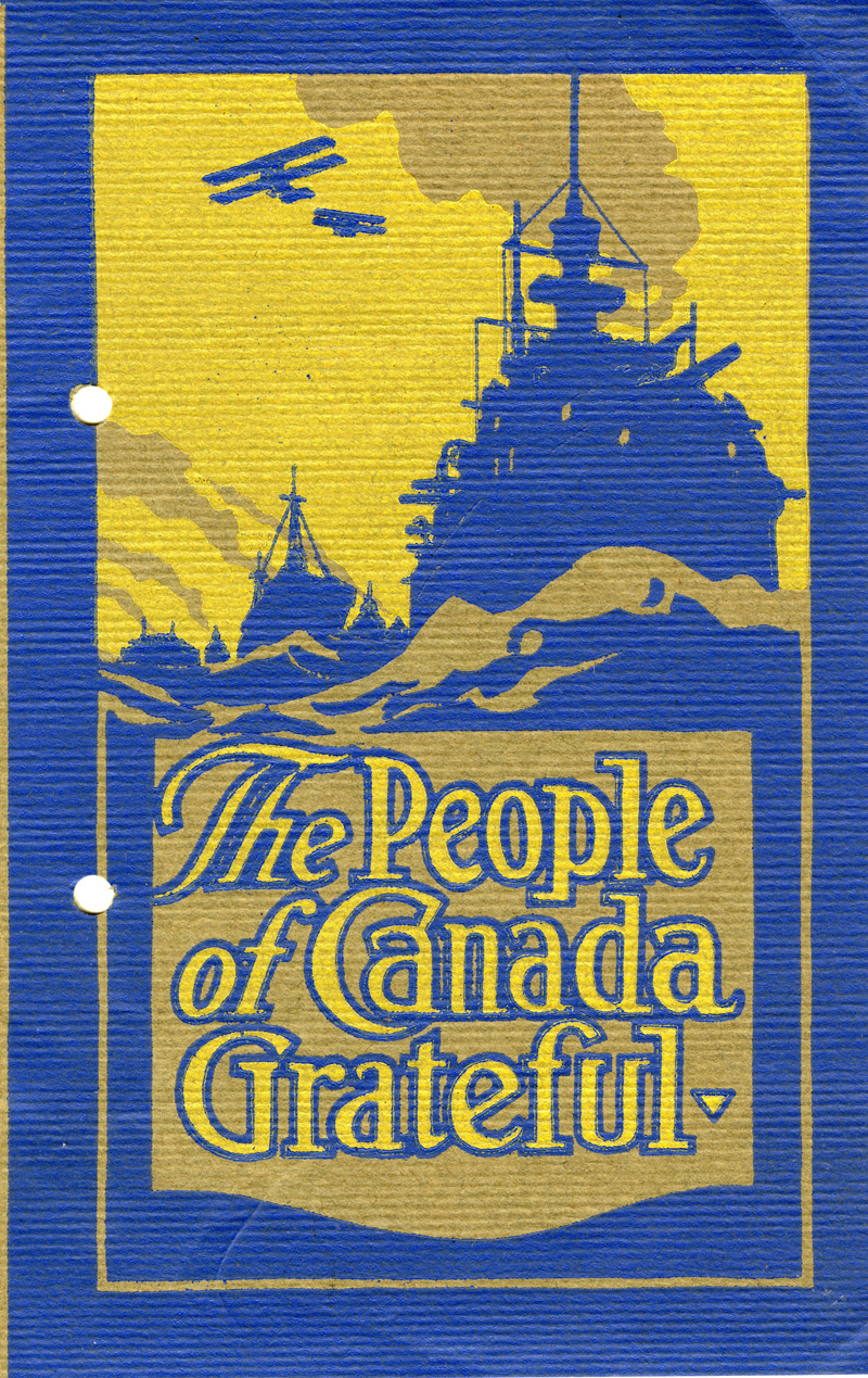 British Sailors' Relief Fund, Canada, booklet