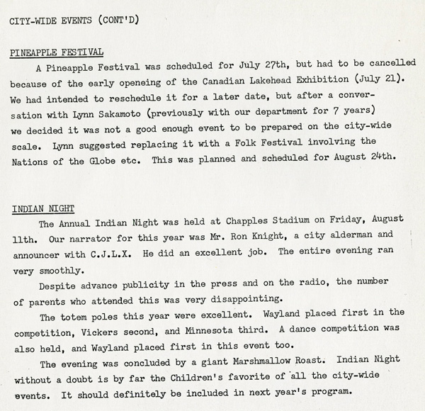 A typed document detailing the 1967 annual report