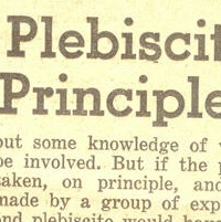A cut out from an article on the 1958 Plebiscite