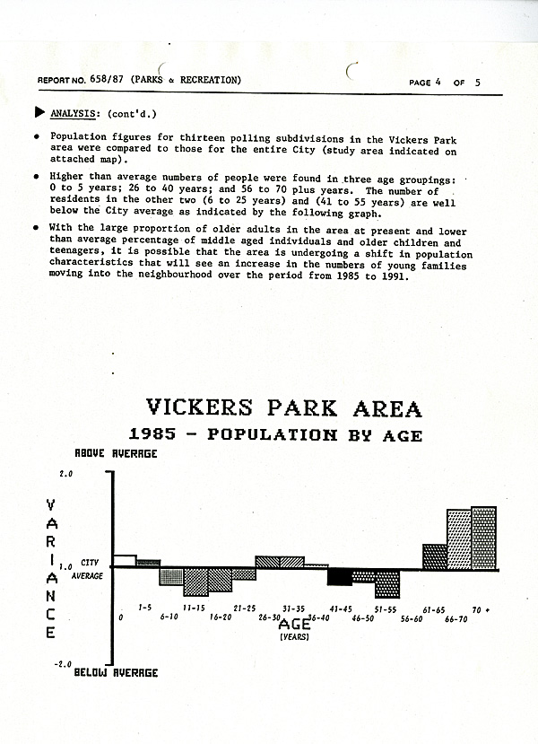 A typed document in black ink on white paper with bar graphs