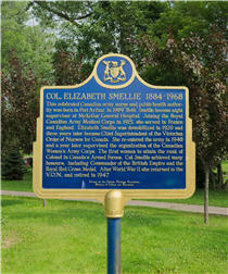 Elizabeth Smellie plaque