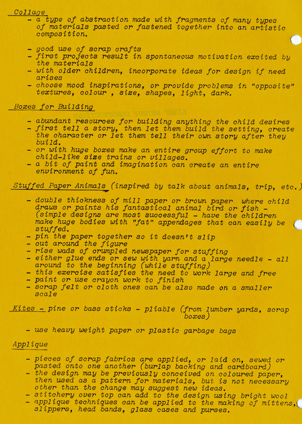 A yellow paper with typed text