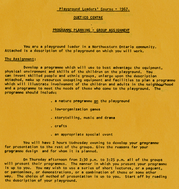 A yellow paper with typed writing