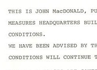 Typed text shows a section of a report on the 1977 snowstorm