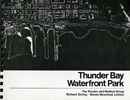 An aerial photo of the Thunder Bay waterfront scanned from a booklet