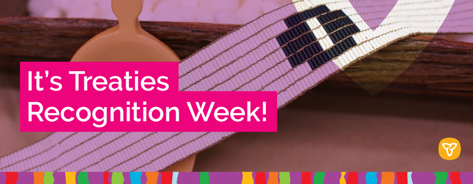 Picture of Treaties Recognition Week with Wampum Belt