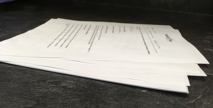 City Council Agenda stack of papers