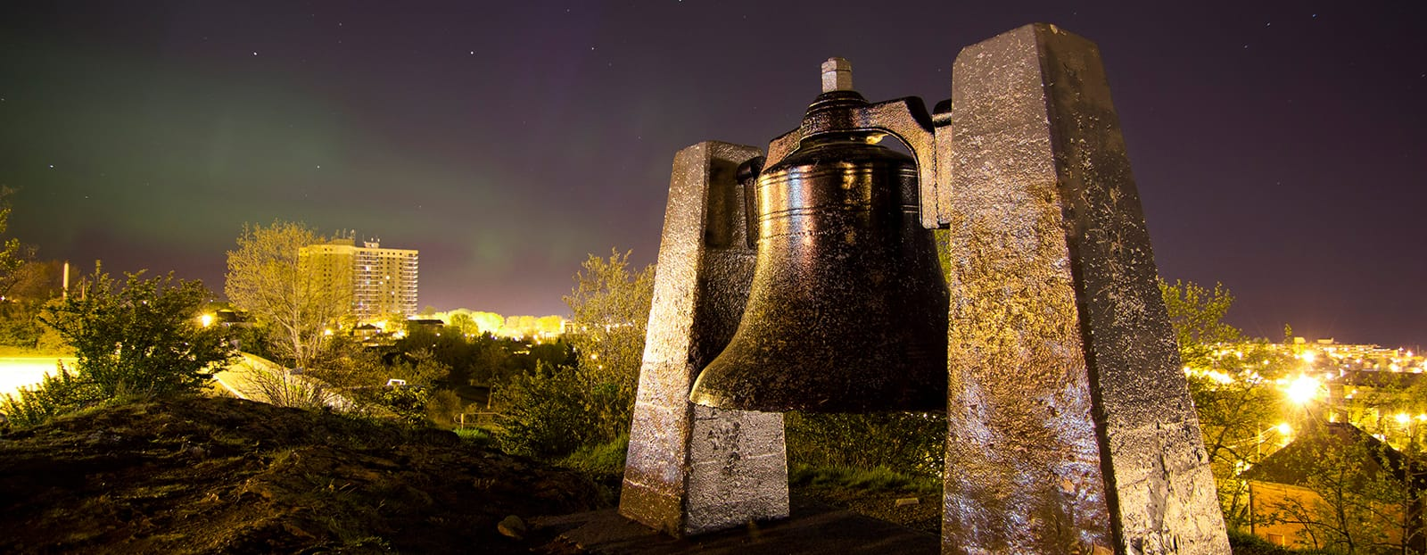 large bell on top of hill