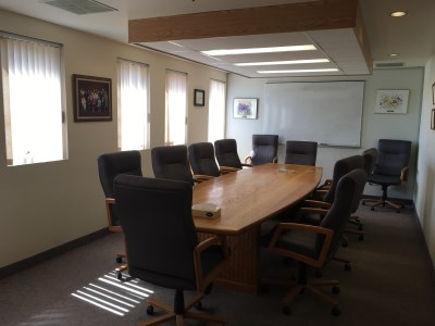 Photo of the inside of the 55 Plus Centre Board Room