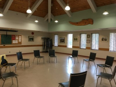 Photo of the inside of the 55 Plus Centre Multipurpose Room
