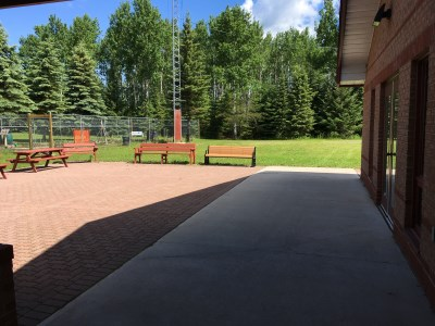 Photo of the inside of the 55 Plus Centre Patio