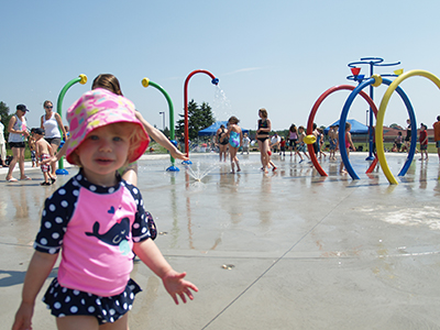 Girl at County Park Splash Pad