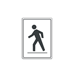 Graphic of pedestrian sign