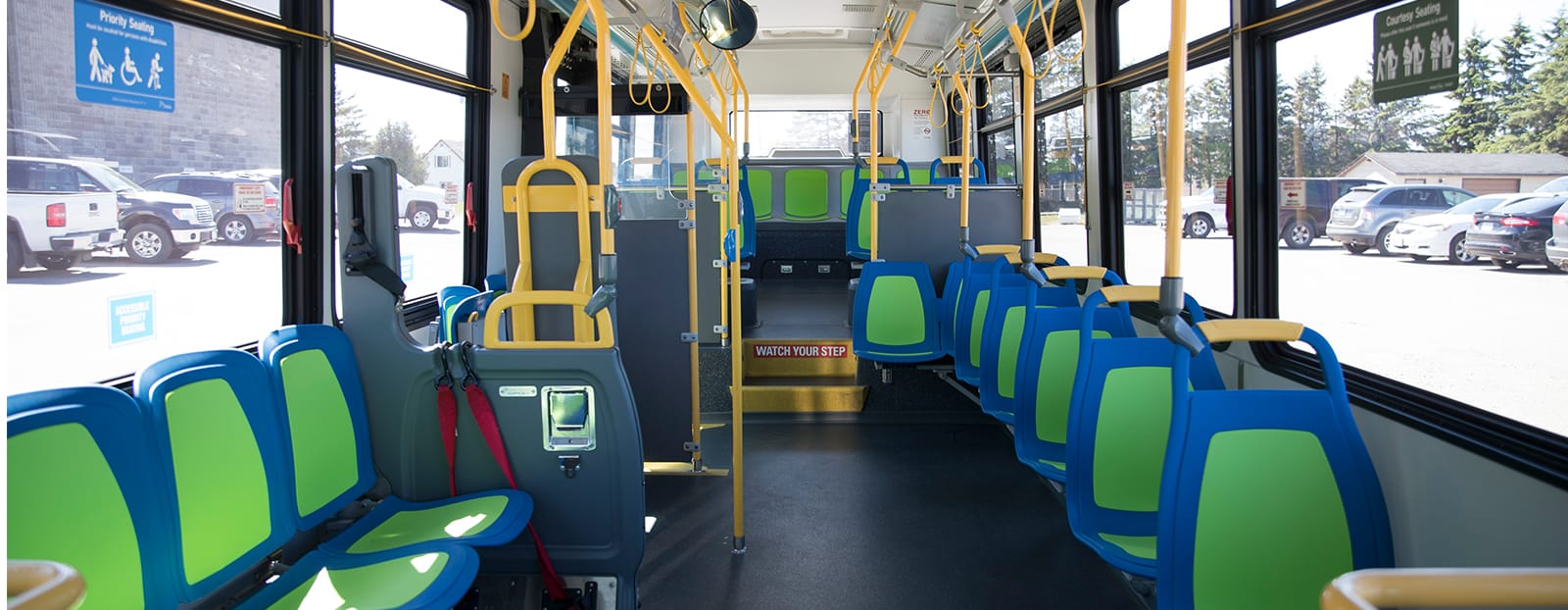 inside of thunder bay city bus