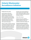 Ontario Wastewater Surveillance Initiative backgrounder image