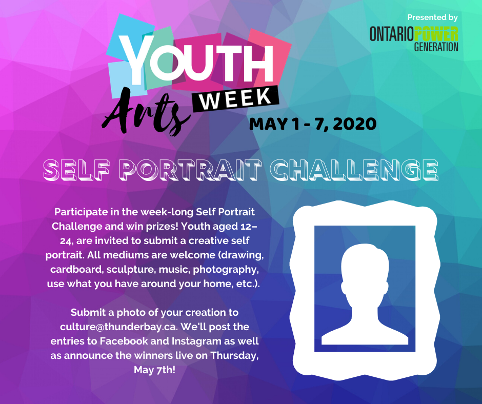 Youth Arts Week Self Portrait Challenge Ad