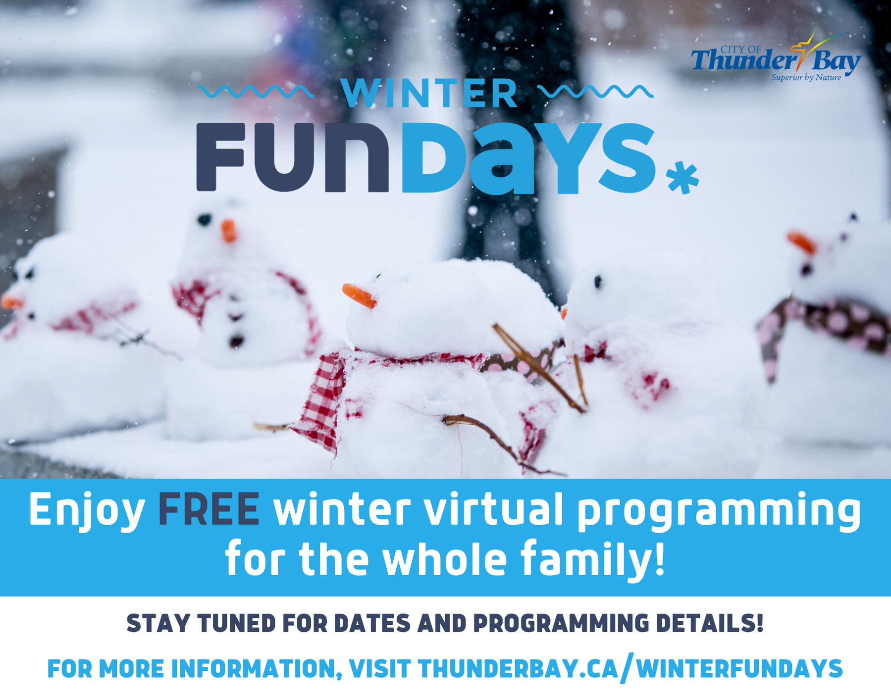 Winter FunDays Ad - stay tuned for more information