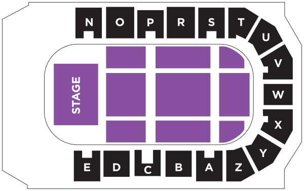 Concert seating map 3700 seats