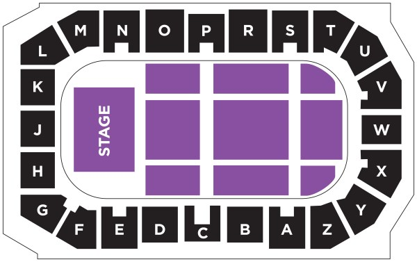 Concert seating map 4600 seats