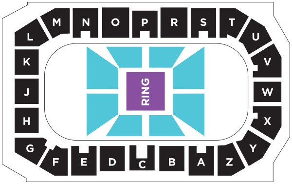 Wrestling seating map