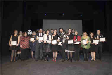Group photo of winners at the 8th annual Arts and Heritage Awards