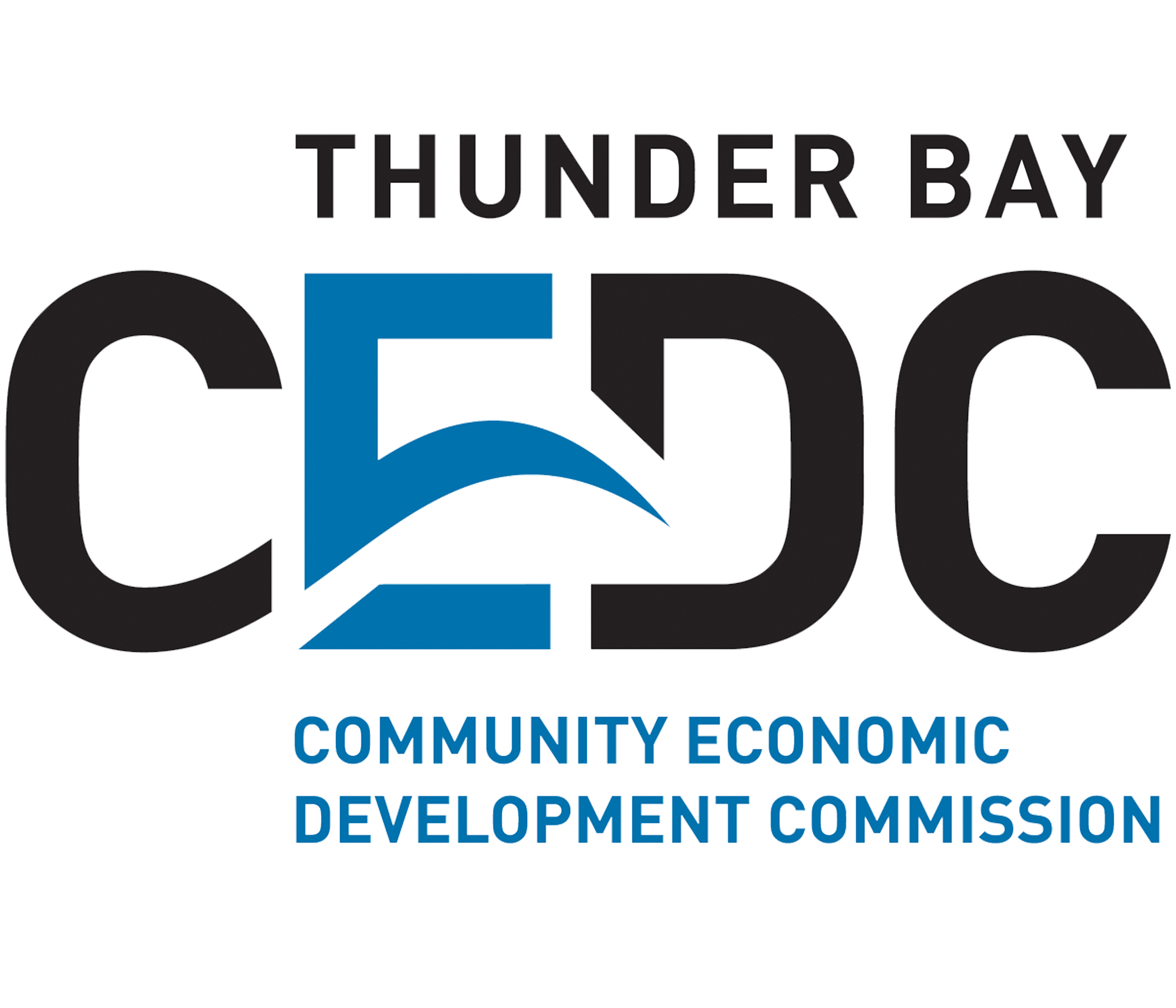 blue and white logo for thunder bay CEDC