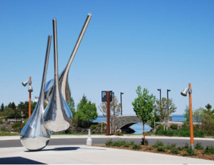 Art installed at park