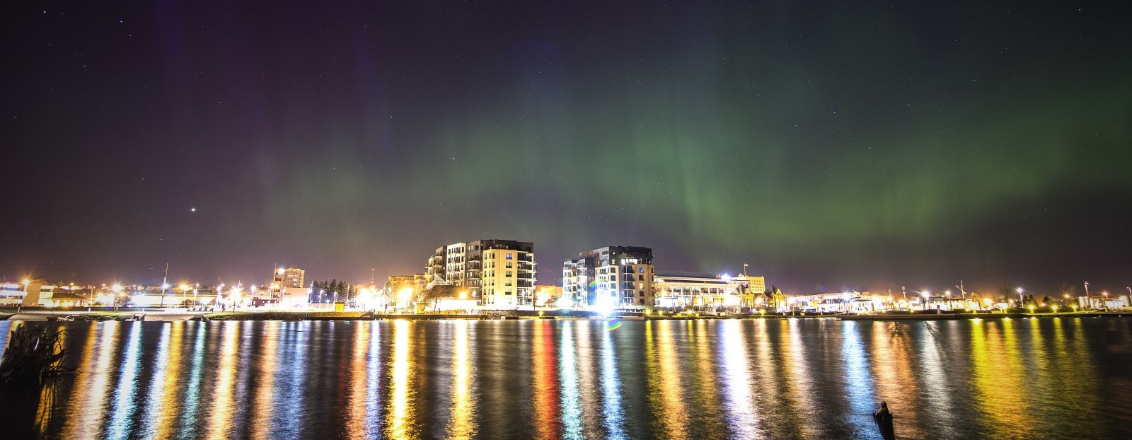 Northern Lights from water